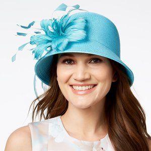 August Hats Jet Dress Church Derby Cloche Hat